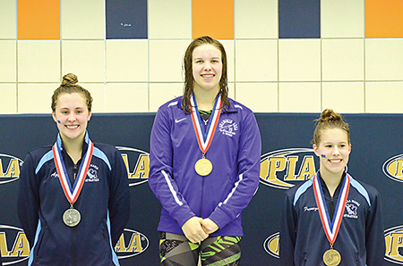 Doss Doubles Down on State Golds en Route to Being Named Class AA Swimmer of the Meet