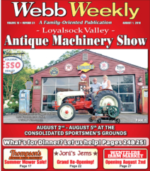 31st Annual Loyalsock Valley Antique Farm Machinery Show
