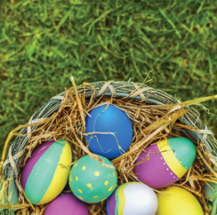 Create colorful Easter eggs