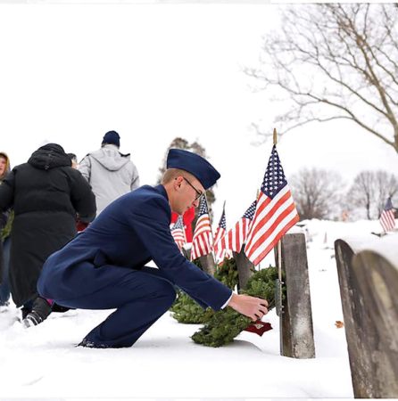 Veterans Honored in Wreath-Laying Ceremony