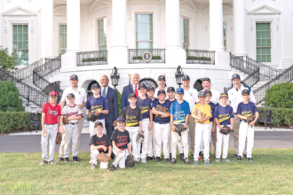 Montoursville Little Leaguers Have Presidential Game of Catch
