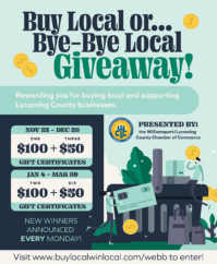 Williamsport/Lycoming Chamber of Commerce Launching Contest To Promote Local Businesses